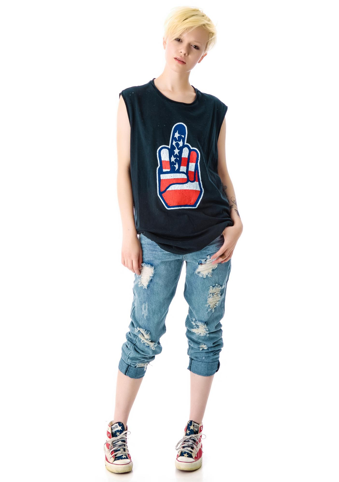 Kill City Up Yours Sleeveless Screen Tee