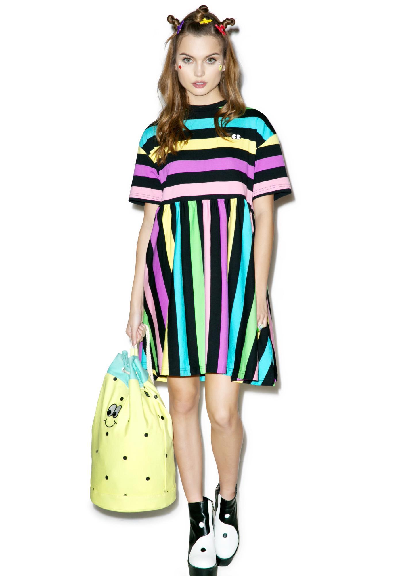 Lazy Oaf Rainbow Stripe Dress