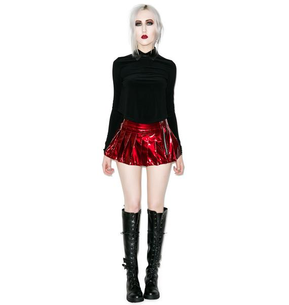 Lip Service Please Me Pleated Skirt