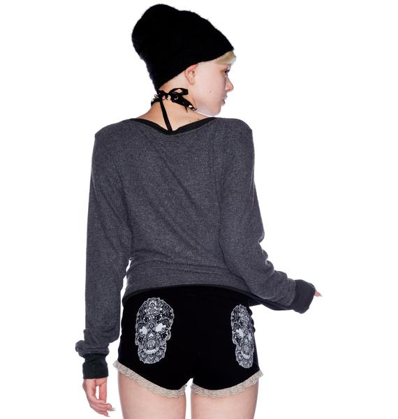 Too Fast Sugar Skull Shorts