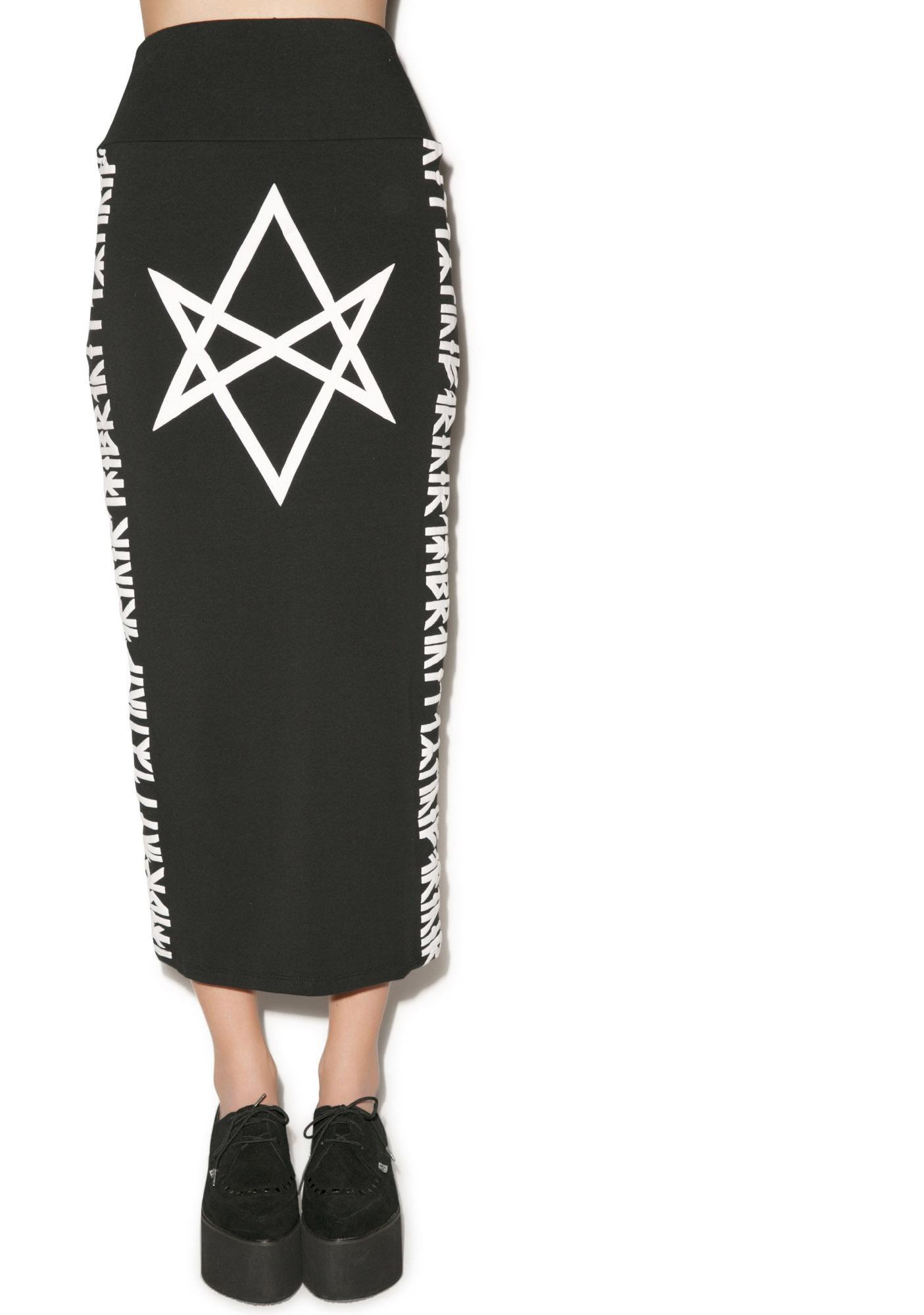 Long Clothing Hexagram Skirt
