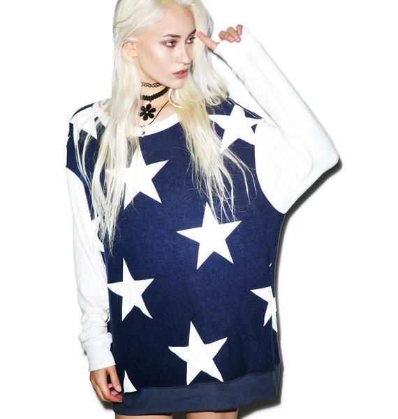 Wildfox Couture Starshine Roadtrip Sweater Dress