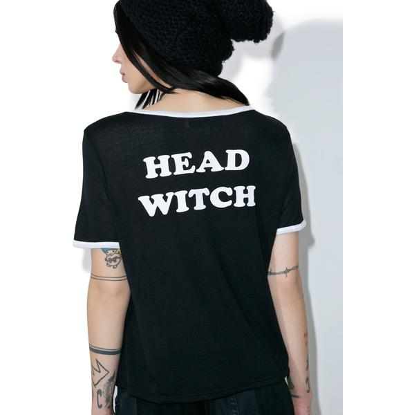 Gypsy Warrior Head Witch Ringer Tee