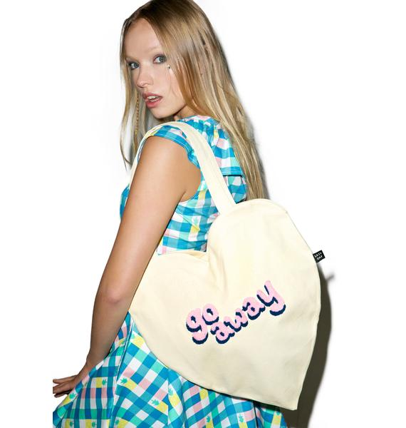 Lazy Oaf Go Away Heart Tote Bag