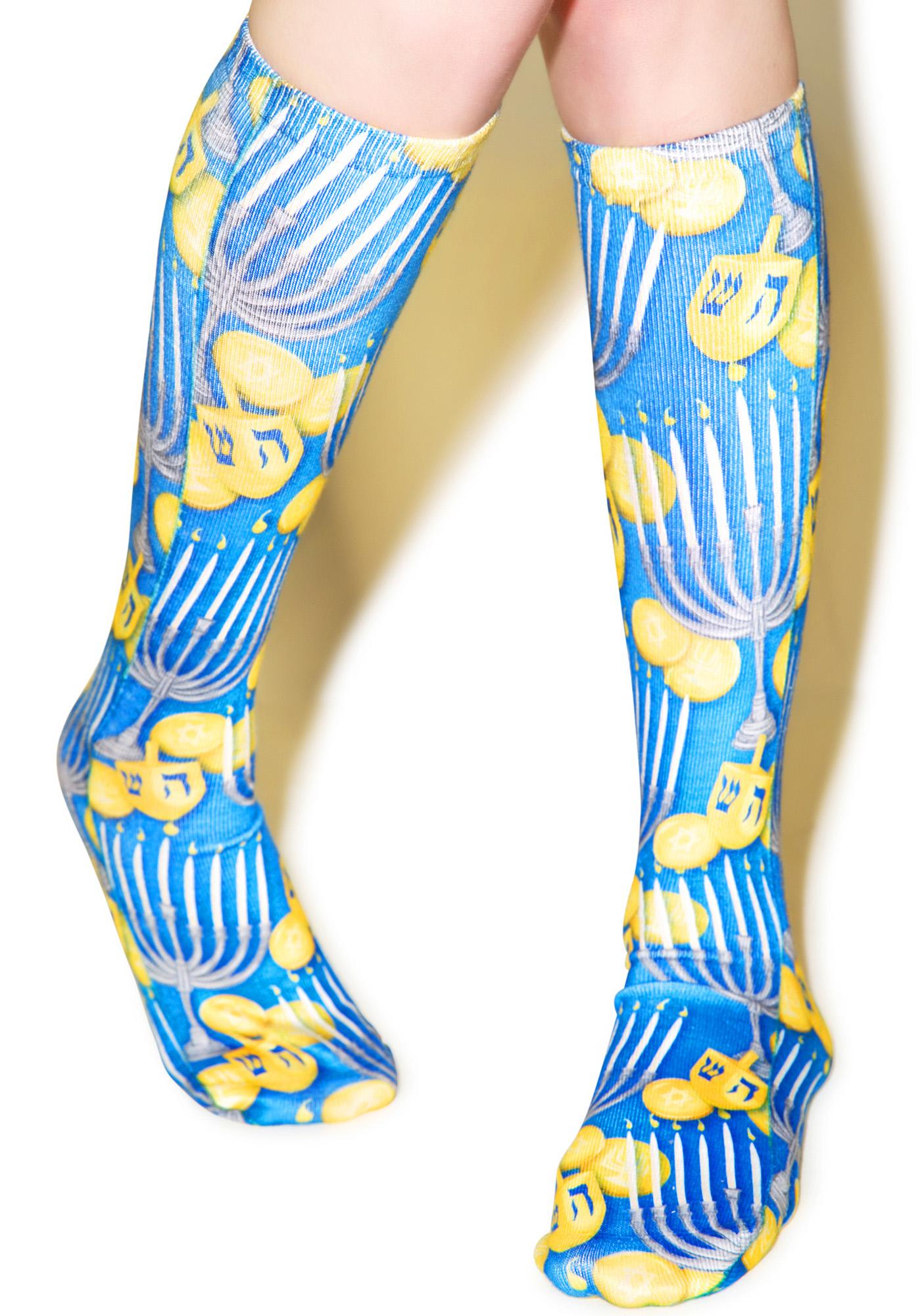 Haute Hanukkah Knee-High Socks