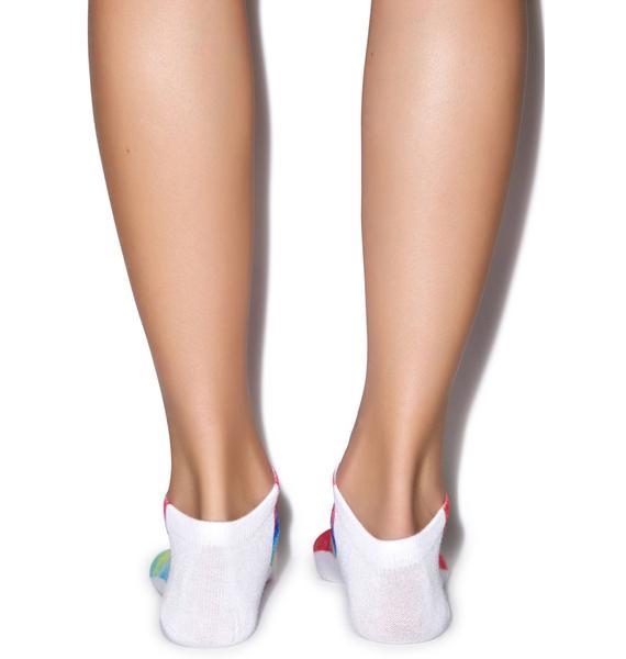 That 70s Tie Dye Ankle Socks