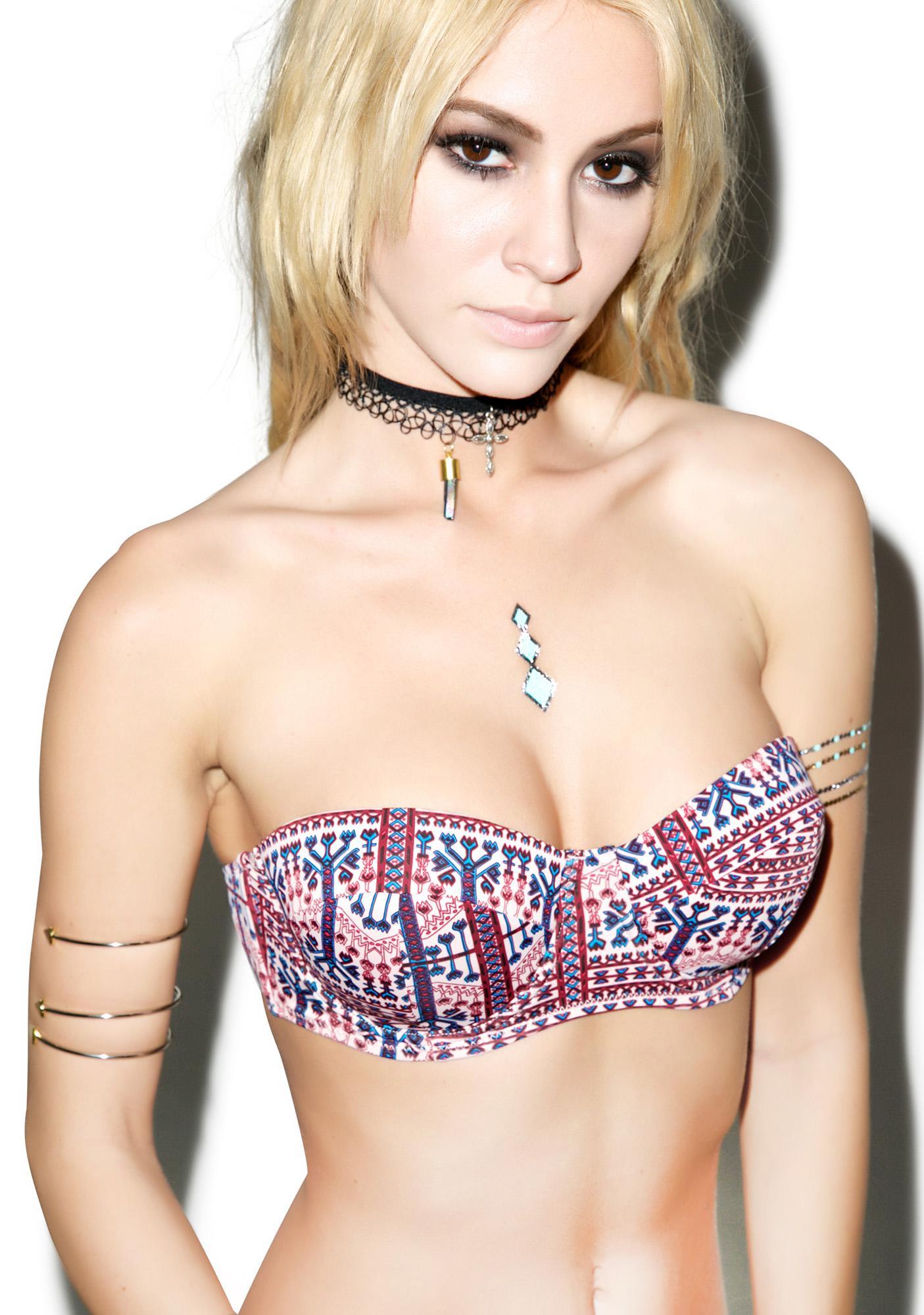 Somedays Lovin Aztec Carpet Bra Bikini Top