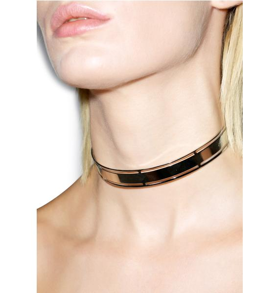 Stone Cold Heart Choker Necklace