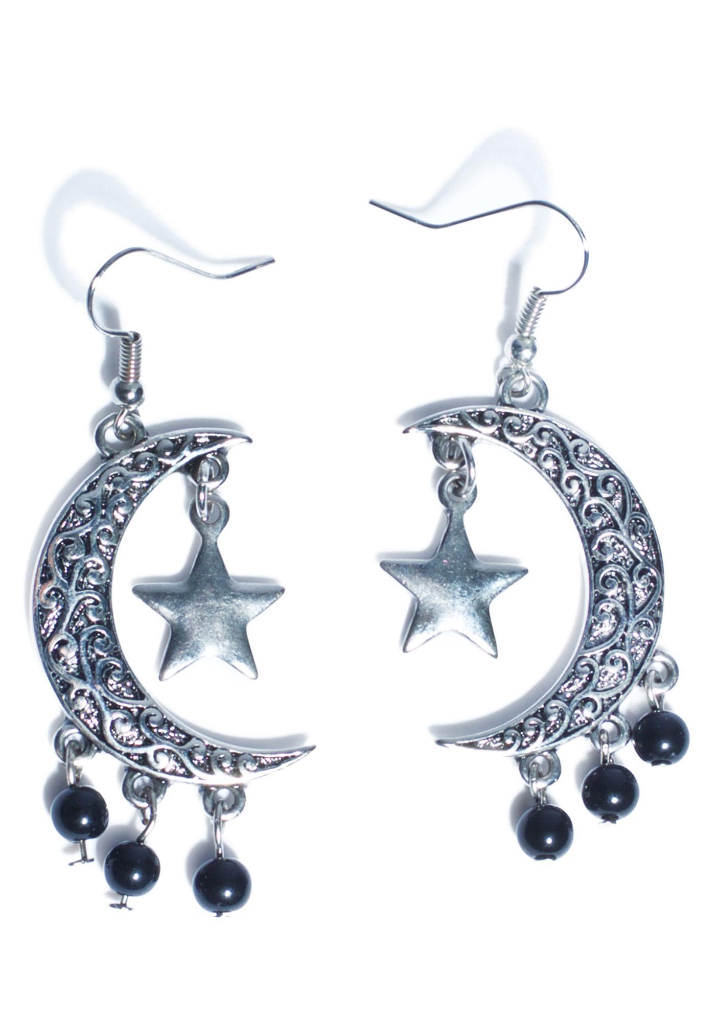 Eternal Moon And Stars Earrings