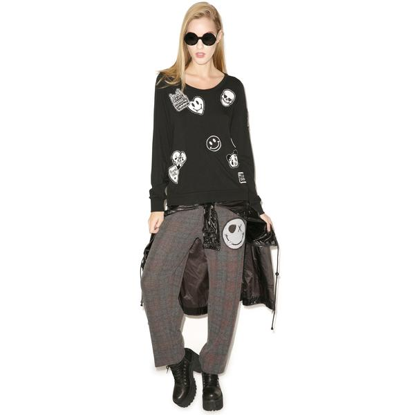 Lauren Moshi Jet Patches All Over Pullover