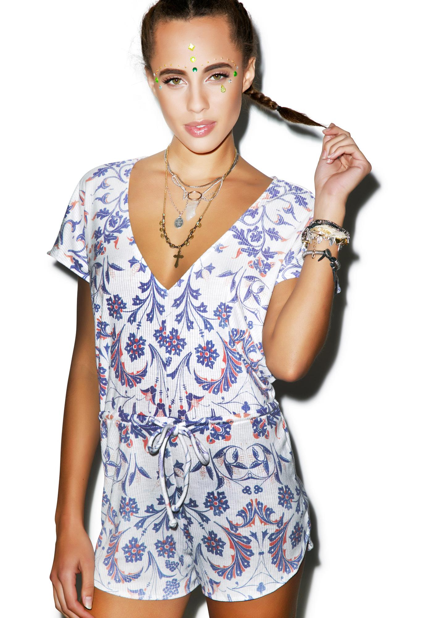 Wildfox Couture American Paisley Roadtrip Romper