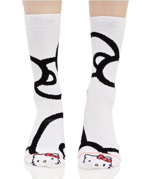 Bows Crew Socks