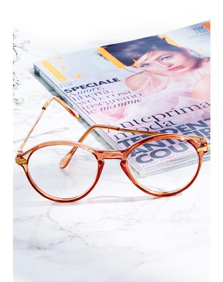 Peach Scholastic Glasses