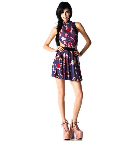 Lip Service Party Doll Printed Dress