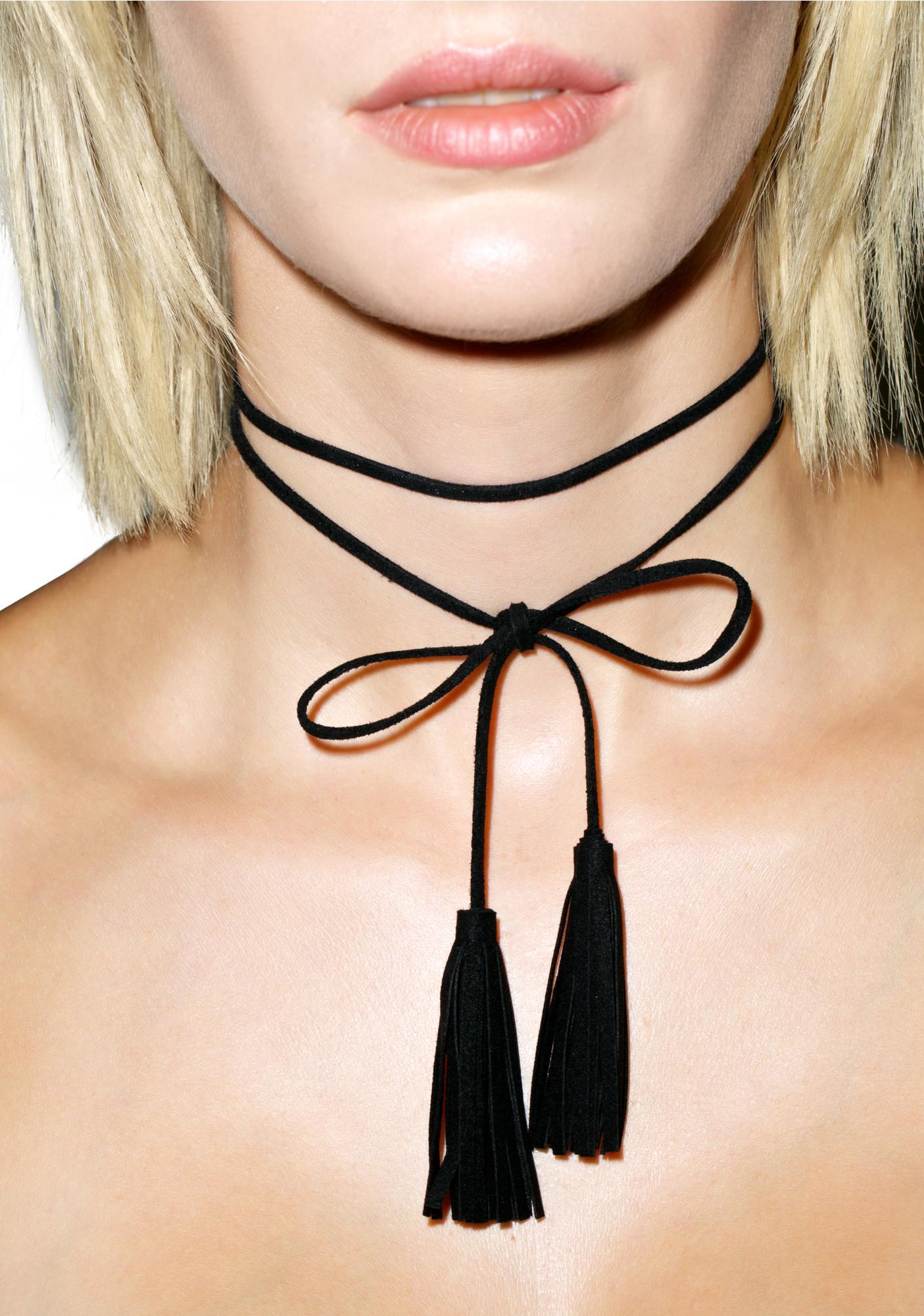 Tassel Me Wrap Necklace