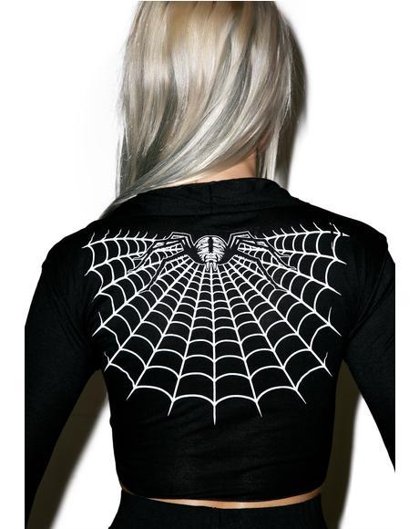Spider Webbed Tie Top