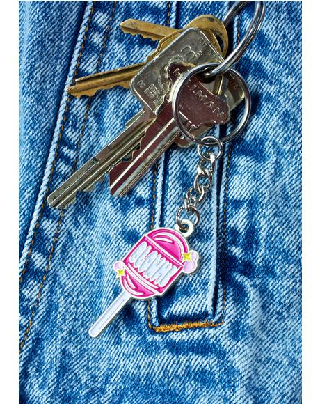 Blow Me Lollipop Keychain
