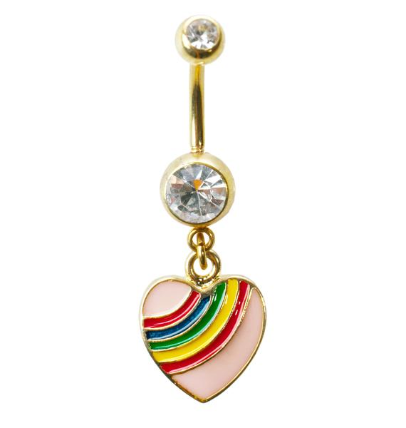 Rainbow Luvin' Belly Ring