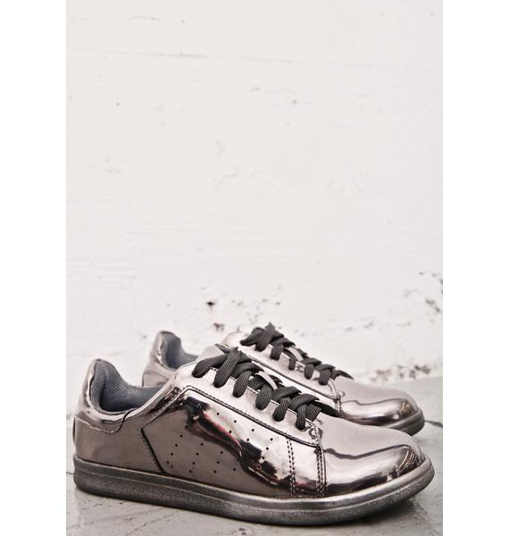 Melted Chrome Metallic Sneakers