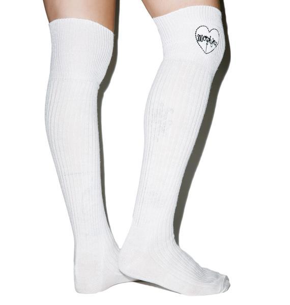 Morph8ne Heart Logo Knee High Socks