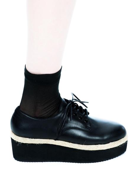 X Belle Of The Brawl Oxford Platform Shoes