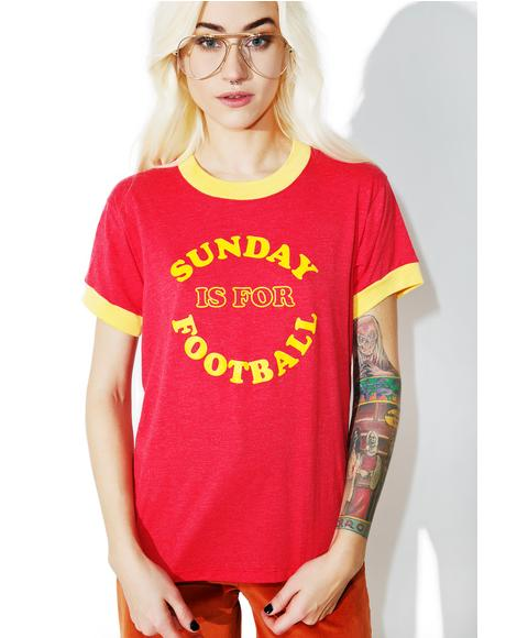 Sunday Is For Football Ringer Tee