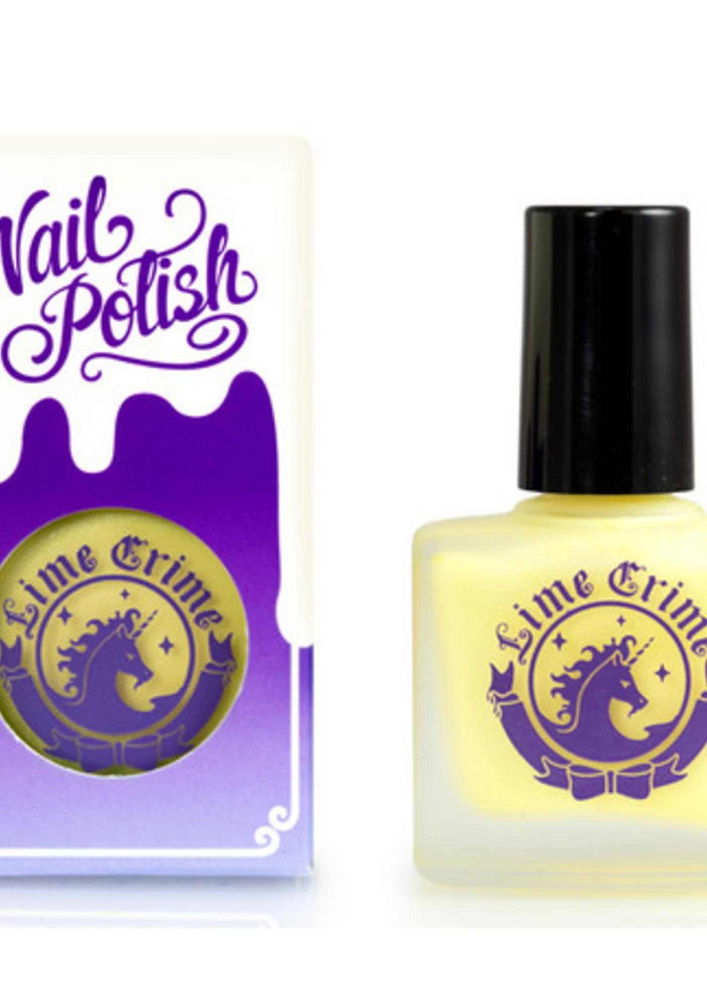 Lime Crime Crema De Limon Opaque Nail Polish
