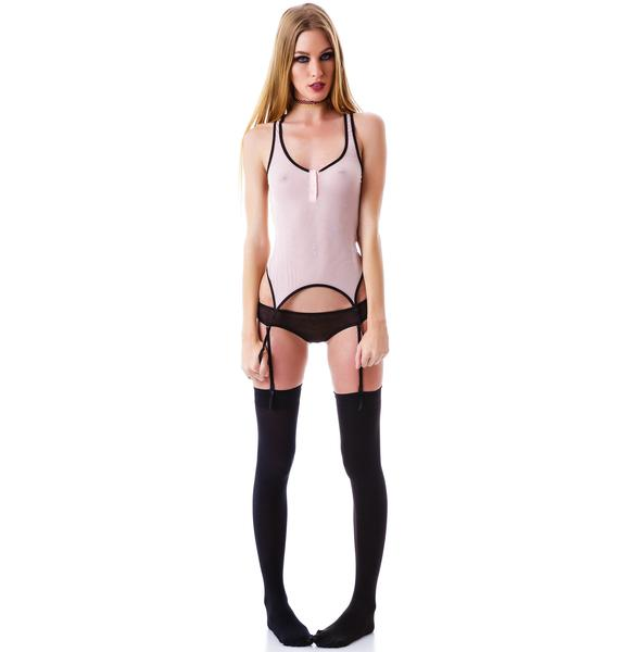 Love Haus Barely There Garter Cami Top