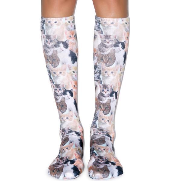 Pussyfooting Around Knee High Socks