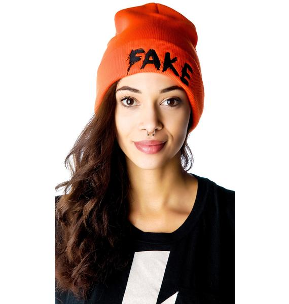 Petals and Peacocks Fake Beanie