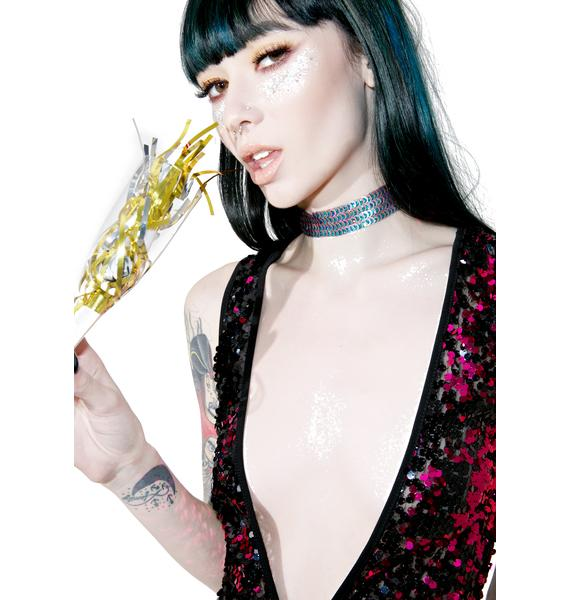 Jaded London Peacock Sequin Choker