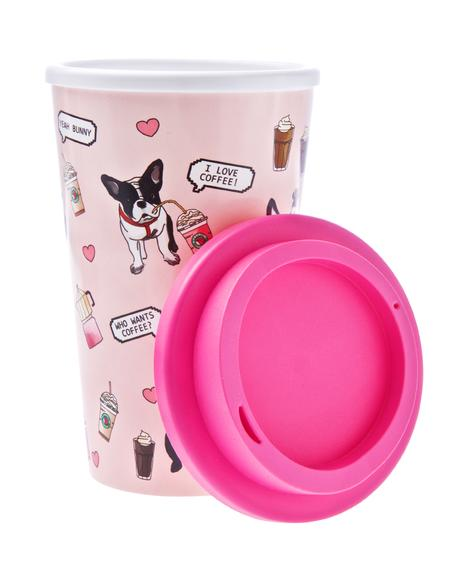 Frenchie Coffee Tumbler