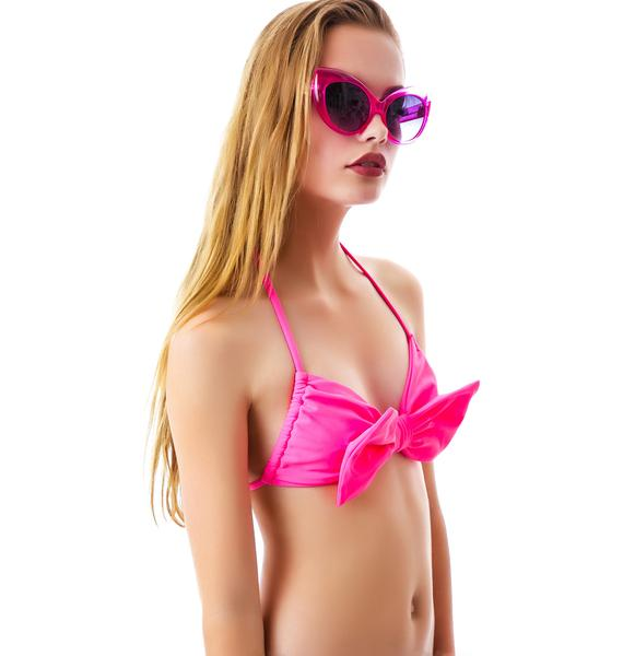 Lolli Swim Winner Bow Bandeau Halter Top