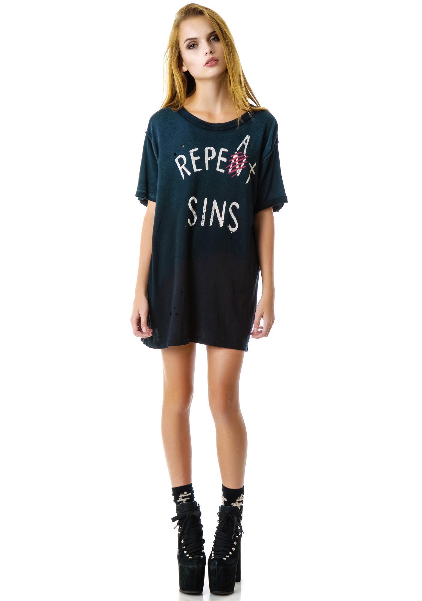 UNIF Repeat Sins Tee
