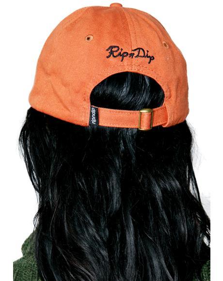 Orange Nermal Leaf Dad Hat