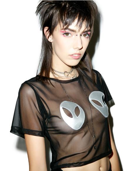 Space Head Sheer Shirt