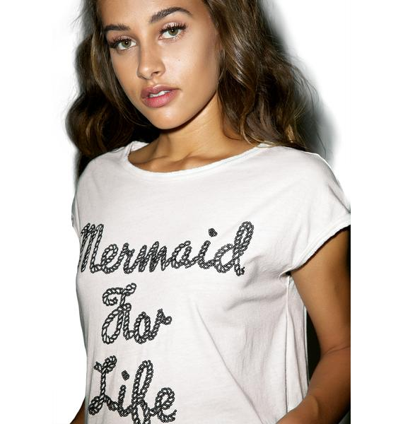 Iron Fist Mermaid For Life Oversized Crop Tee