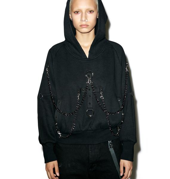 Punk Rave Dark Days Chained Hoodie