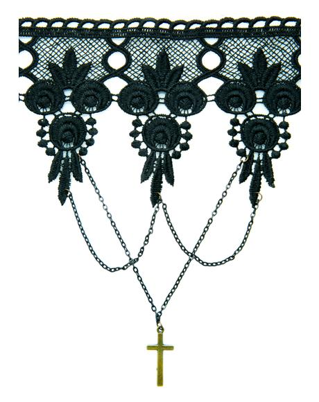Cross Yr Heart Lace Choker