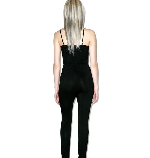Hideaway Split Knee Jumpsuit