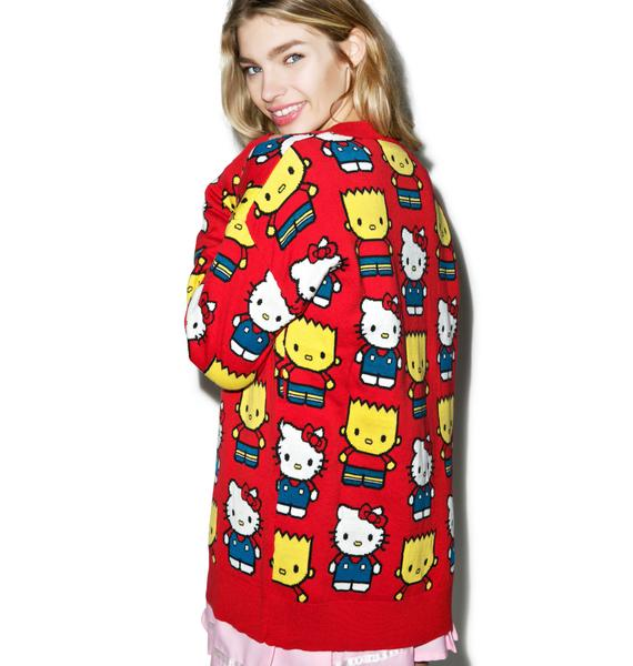 Japan L.A. Hello Kitty & Bart Simpson Cardigan