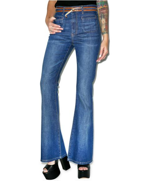 Rex Stretch Denim Flares