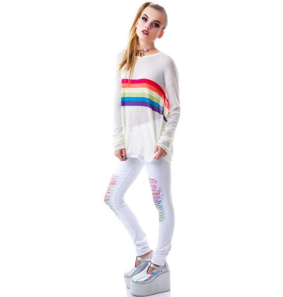 Rainbow Slice Sweater