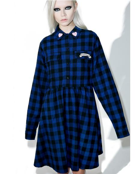 Mistakes Flannel Dress
