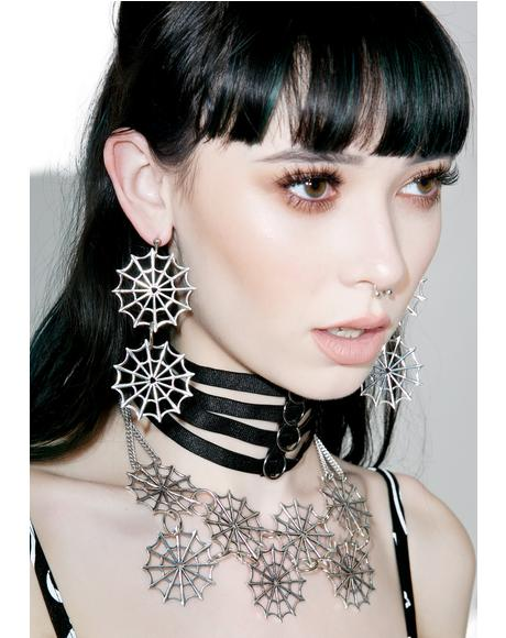 Double Web Earrings