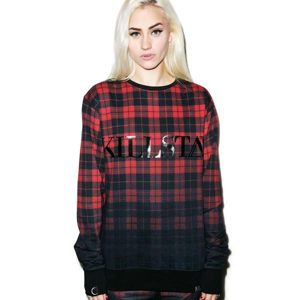 Killstar Tartan Sweatshirt