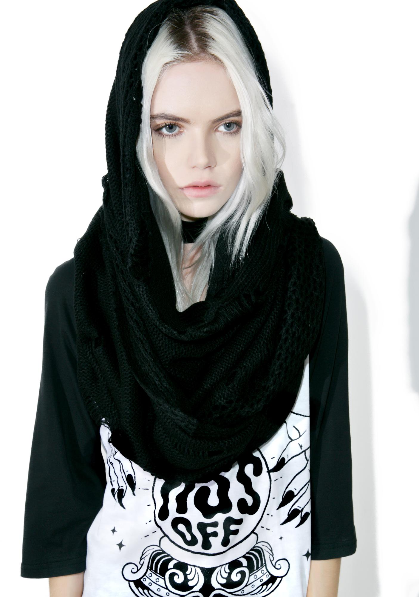 Killstar Specter Knit Scarf
