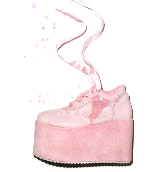 Y.R.U. Qozmo Lo Glitter Platforms