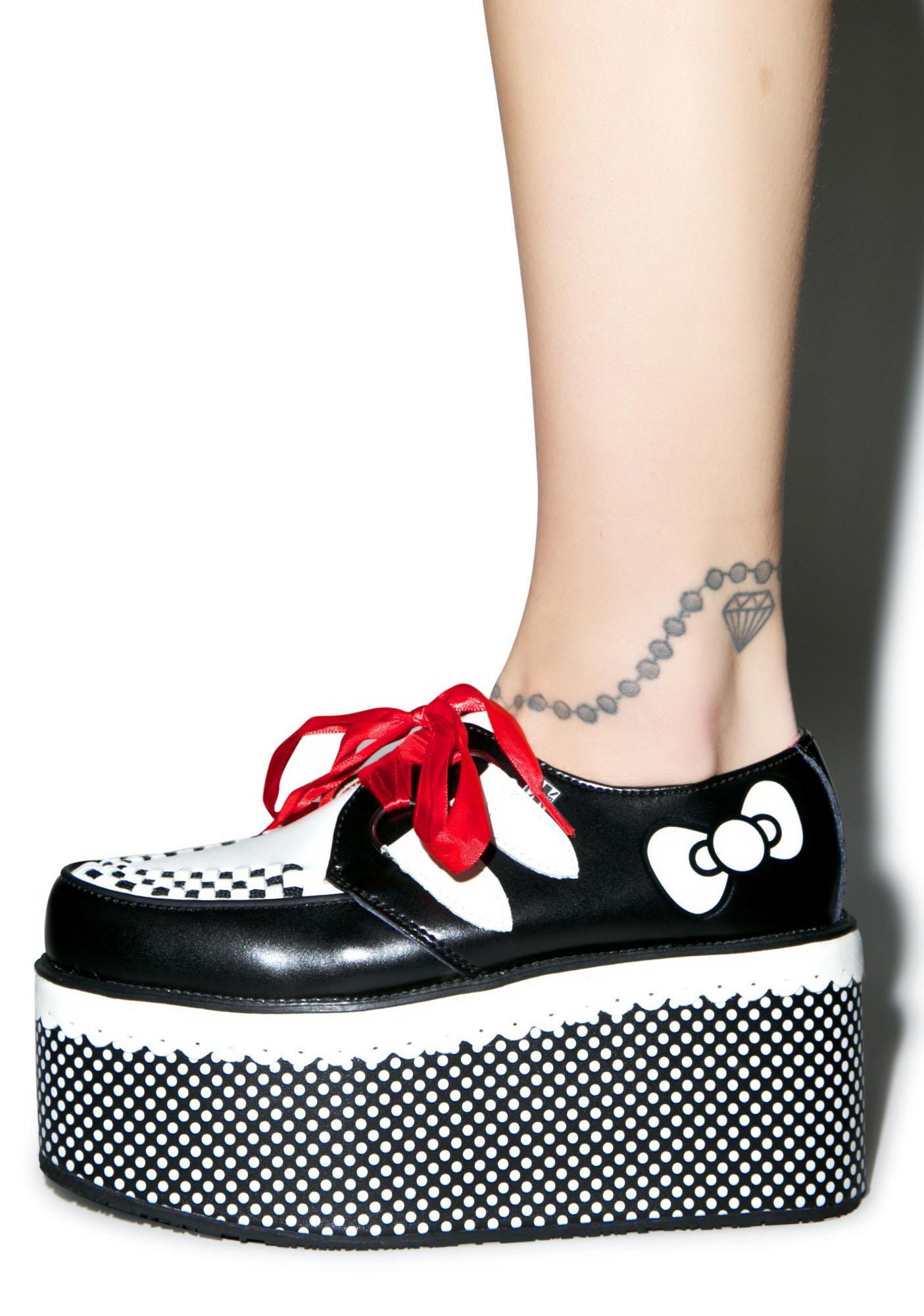 T.U.K. Red Ribbon Hello Kitty Creepers