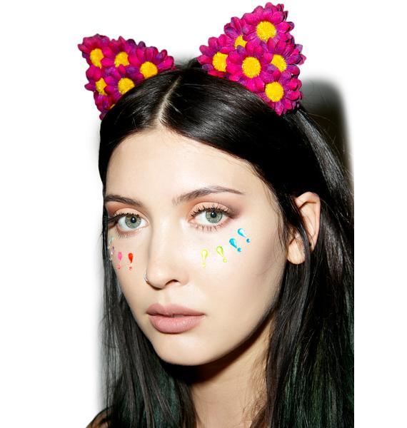 Crimson Carmella Daisy Cat Ears